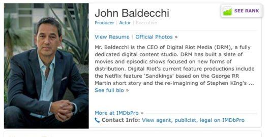 Trunk has now secured John Baldecchi as Executive Producer